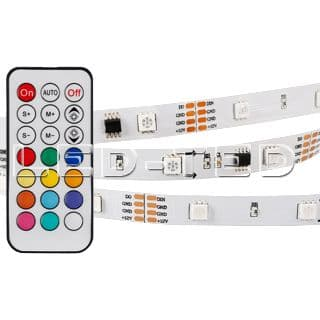 Картинка Лента SPI-5000-5060-30 12V Cx3 RGB-Remote 10mm 7.2W IP20 020978(1) от интернет-магазина led-ted.ru