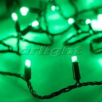 Фото Гирлянда Нить ARD-STRING-CLASSIC-10000-BLACK-100LED-STD GREEN 230V, 7W 025800