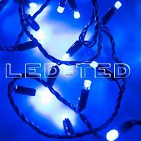 Фото Гирлянда Нить ARD-STRING-CLASSIC-10000-BLACK-100LED-FLASH BLUE 230V, 7W 025803