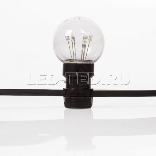 Гирлянда Белт-Лайт LED Galaxy Bulb String 10 м Каучук 30 ламп*6 LED Уличная IP65 фото 7