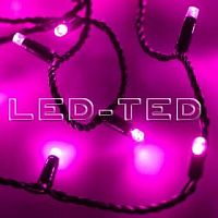 Фото Гирлянда Нить ARD-STRING-CLASSIC-10000-BLACK-100LED-FLASH PINK 230V, 7W 025807