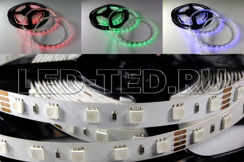 Лента RGB 24V 10mm 60 LED/m 14,4W/m 5060 RT 2-5000 2x LUX Arlight