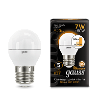 Лампа Шар E27 7W Step Dimmable Gauss