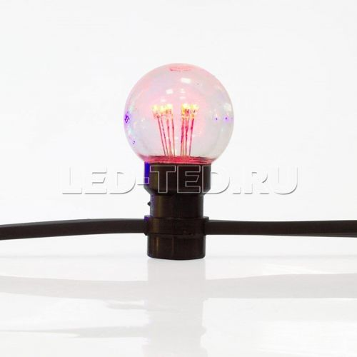 Гирлянда Белт-Лайт LED Galaxy Bulb String 10 м Каучук 30 ламп*6 LED Уличная IP65 фото 5